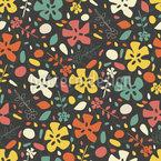 Phase florale Motif Vectoriel Sans Couture