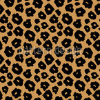 Spotted Jaguar Skin Seamless Vector Pattern Design