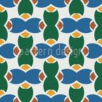 Cerâmica Mediterrânica Design de padrão vetorial sem costura