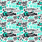 Grunge Football Art Seamless Vector Pattern Design