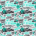 Grunge Fussball Kunst Nahtloses Vektormuster