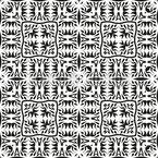タイル張りのタトゥー シームレスなベクトルパターン設計