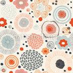 Hippie Scandi Blumen Mix Nahtloses Vektormuster