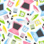 文房具の必需品 シームレスなベクトルパターン設計