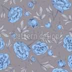 Peonies With Leaves Seamless Vector Pattern Design