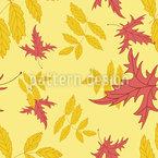 Herbstbewegung Nahtloses Vektormuster