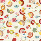 Vintage Frucht Mix Nahtloses Vektormuster