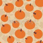 Kürbisse auf Herbstlaub Nahtloses Vektormuster