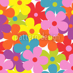 Summer Garden Party Seamless Vector Pattern Design