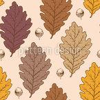 Herbst Eichenblätter Nahtloses Vektormuster