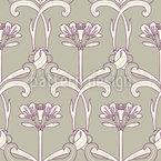 Art Deco Blumen Kunst Nahtloses Vektormuster