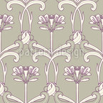 Art Deco Flower Art Seamless Vector Pattern Design