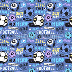 Football Hero Seamless Vector Pattern Design