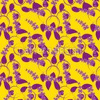 Anordnung Von Blüten Nahtloses Vektormuster