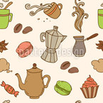 Tea And Coffee Seamless Vector Pattern Design