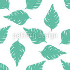 Decorative Palm Leaves Seamless Vector Pattern Design