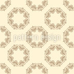 Ornate Wreaths Seamless Vector Pattern Design