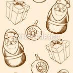 クリスマス・デコミックス シームレスなベクトルパターン設計