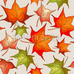 Changing Maple Leaves Seamless Vector Pattern Design