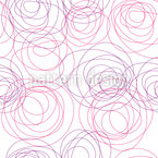 Rose Lines Seamless Vector Pattern Design