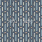 Valencia Art Deco Seamless Vector Pattern Design