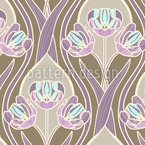 Tulipani Vintage Romantico disegni vettoriali senza cuciture