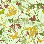 Blumen und Schmetterlinge Mix Nahtloses Vektormuster