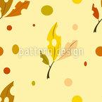 Impression de feuilles d'automne Motif Vectoriel Sans Couture