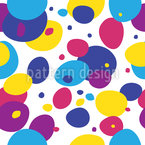 Gotas de colores felices Estampado Vectorial Sin Costura