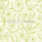 Fantasy Flowers And Leaves Seamless Vector Pattern Design