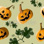 Halloween Dekoration Nahtloses Vektormuster