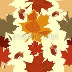 Великолепие листьев Бесшовный дизайн векторных узоров