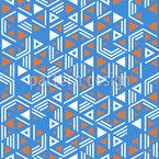 Composição Triangular Design de padrão vetorial sem costura