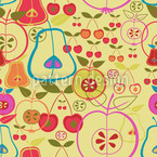 Fruity Romance Seamless Vector Pattern Design