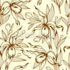 Descoberta de orquí Design de padrão vetorial sem costura