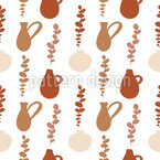 Antique Vases Seamless Vector Pattern Design