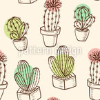 House Plant Mix Seamless Vector Pattern Design