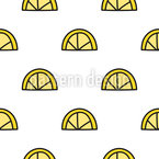 Lemon Doodle Seamless Vector Pattern Design