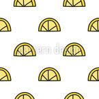 Zitronen-Doodle Nahtloses Vektormuster