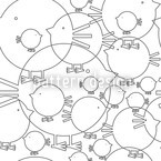 Piepsi In Winter Seamless Vector Pattern