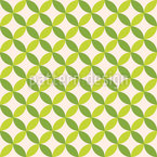 Disposition géométrique des feuilles Motif Vectoriel Sans Couture