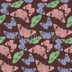 Edged Butterflies Seamless Vector Pattern Design