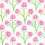 Stylized Raspberry Plants Seamless Vector Pattern Design