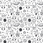 Adventure In Outer Space Seamless Vector Pattern Design