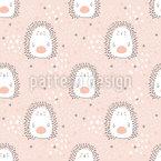 Ouriços adoráveis Design de padrão vetorial sem costura