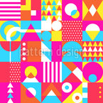 Neon Shapes Seamless Vector Pattern Design