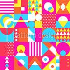 Formas de néon Design de padrão vetorial sem costura