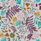 花卉花园涂鸦 无缝矢量模式设计