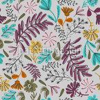 Floral Garden Doodle Seamless Vector Pattern Design