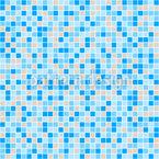 クラシック・マリンモザイク シームレスなベクトルパターン設計